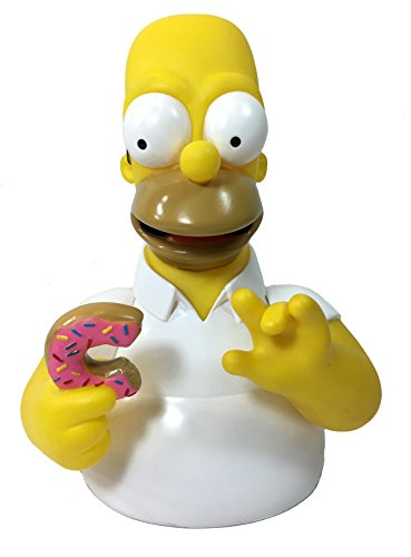 TV Show: Homer Simpsons with Donut Bust Bank - Homer Simpsons Coin Bank (Simpsons Bank)