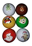 BZANY Christmas Holiday Fun Golf Balls (6 Pack)