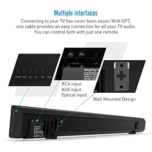 Electronics Sound Bars Remote Control 8 Drivers Built-in ...
