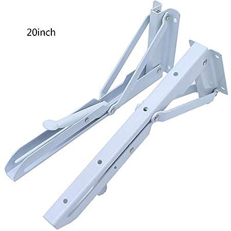 in Acciaio Inox Bianco JklausTap Montaggio a Parete 2 staffe Pieghevoli per mensola 10 Pollici Cerniere da Tavolo