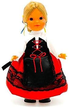 Amazon.es: Folk Artesanía Muñeca Regional colección de 25 cm con Vestido típico Vallisoletana Valladolid España.: Juguetes y juegos