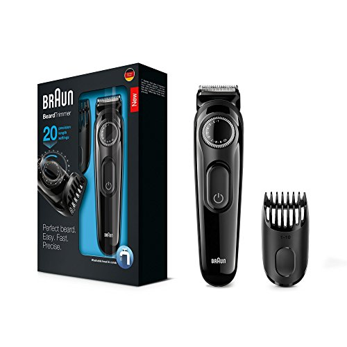 Braun BT3020 Men's Beard and Hair Trimmer, Beard Trimmer Rechargeable,...