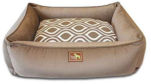 Luca For Dogs Lounge Dog Bed w/Easy-Wash Cover, Large 34