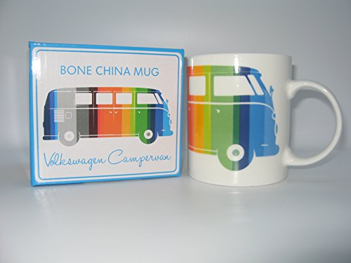 New Volkswagen Campervan Bone China Mug in Gift Box Officially Licensed Multi Coloured