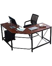 soges Corner Desk L-Shaped Computer Desk L(150+150) * W55 * H76 cm Workstation Office Desk ZJ02-M