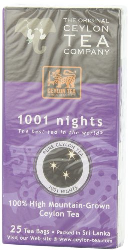 The Original Ceylon Tea Company, 1001 Nights Tea, 25-Count Tea Bags (Pack of 6)