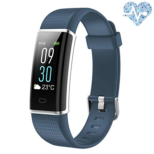 Lotyes Fitness Tracker,Color Screen Heart Rate Activity Tracker with Sleep Monitor,Steps Counter,IP68 Waterproof Smart Band for Kids,Women and Men - Activity Sleep Tracker