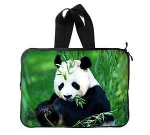 Panda bambú personalizado ordenador portátil bolsa funda para ordenador portátil de 13pulgadas (doble lados)