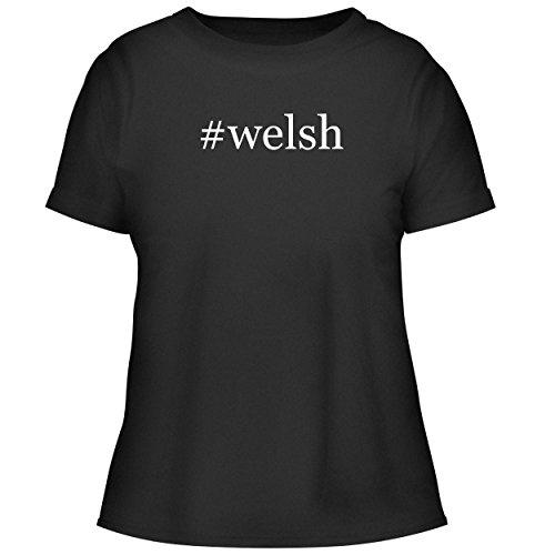 BH Cool Designs #Welsh - Cute Women's Graphic Tee, Black, (Webkinz Jack)