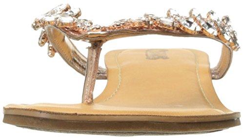 Carlos by Carlos Santana Women's Treza Flat Sandal, Rose Gold, 10 M US Rose Gold