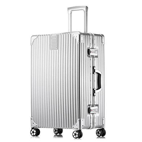 2ec802ce3f3f Galleon - Kroeus ABS+PC Suitcase Luggage Lightweight With ...
