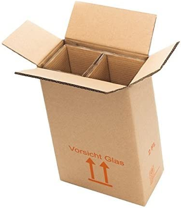 2 botellas Cajas de Cartón montado montado – La Autorización – Envío de vino para 0,75L Burdeos/Burdeos/champán/Schlegel (1 L): Amazon.es: Oficina y papelería
