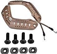Rail Mount Helmet Adapter Helmet Side Rails Tactic Military Combat Helmet Side Rails with Lanyard Mounting Scr