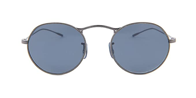 95392468f9ed Amazon.com  Oliver Peoples M-4 30TH OV 1220S Antique Pewter Blue 47 20 145 Unisex  Sunglasses  Clothing