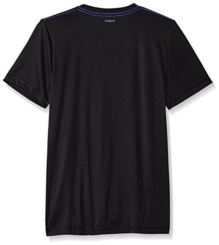 Large Product Image of adidas Big Boys' Short Sleeve Logo Tee Shirt, Black, Large