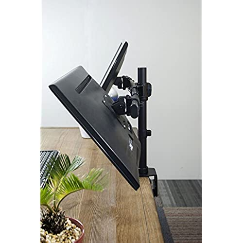 VIVO Dual Monitor Curved Horizontal Array Desk Mount Stand fits Screens upto 27/""