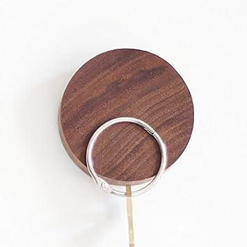 M/ünzen EQLEF Magnet Schl/üsselhalter Holz Wand Haken Runde Holz Key Hanger f/ür Schl/üssel 2er Pack Karten Lagerung
