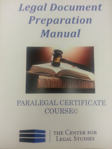 Legal Document Preparation Manual