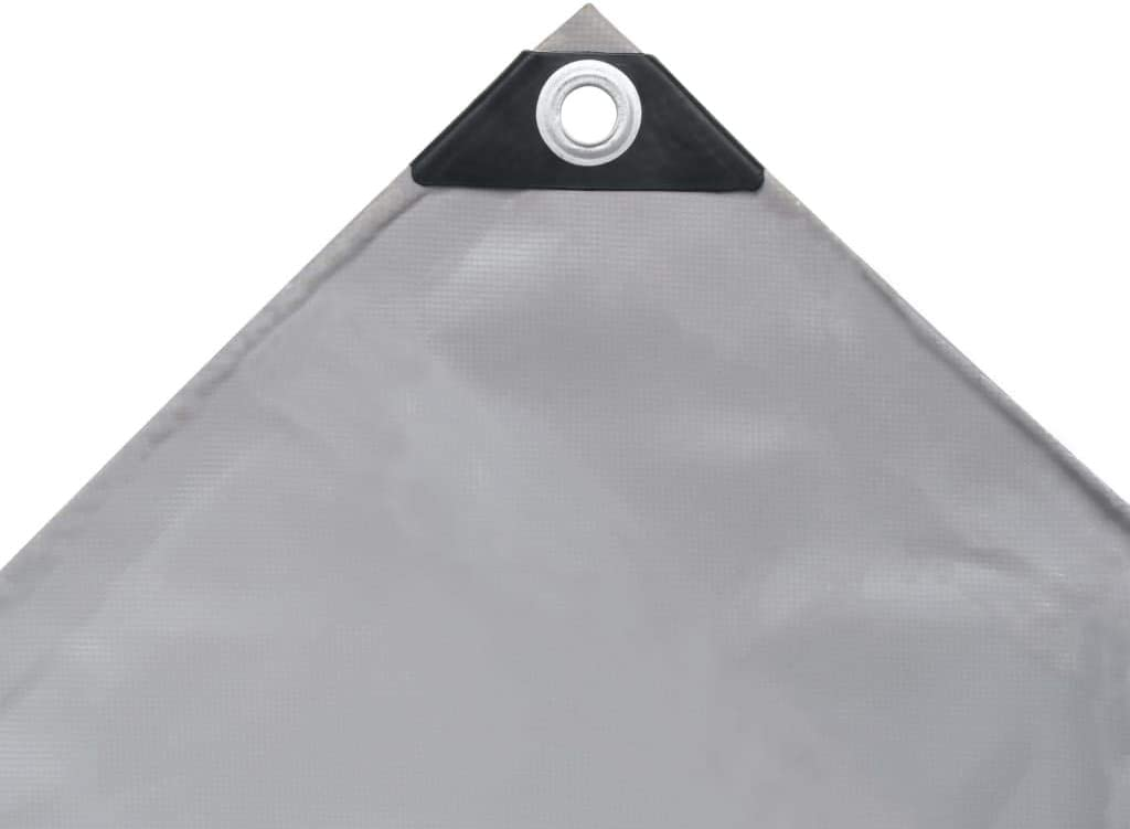 vidaXL Lona Protectora con Ojales 650 g//m /² PVC Toldo Cubierta Patio 5x6m Gris