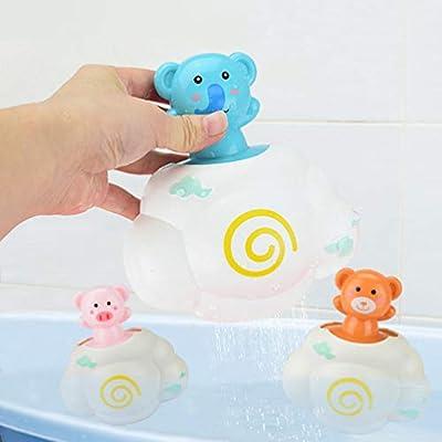 TOYANDONA 3pcs Bath Toys Shower Spray Animal Cloud Water Spout Fountain Spray Bath Time for Baby Shower Bathtub Swimming Pool: Toys & Games