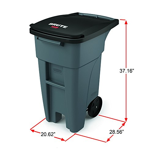 Rubbermaid Commercial 1971941 Brute Rollout Trash Can 32