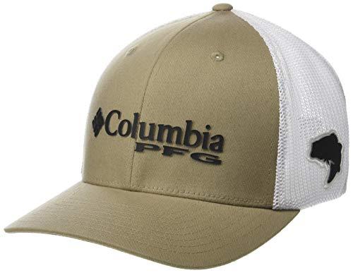 Columbia Unisex PFG Mesh Ball Cap, Tusk, Black, Large/X-Large
