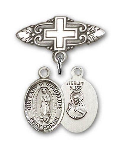 Icecarats Créatrice De Bijoux En Argent Sterling O / L De Guadalupe Broche De Badge Charme Avec Une Croix X 3/4