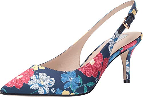 Cole Haan Women's 65 mm Vesta Slingback Hayes Floral Print Cotton Sateen 9 B US