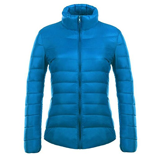 Light Blue Ultra Puffer Winter Weight Packable Jacket Down Women's KINDOYO Coat 4fU8wx7q