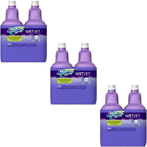 Swiffer 2 WetJet Multi-Purpose Cleaner Refills, Lavender Vanilla and Comfort, 84.4 oz - (2) 3 Packs