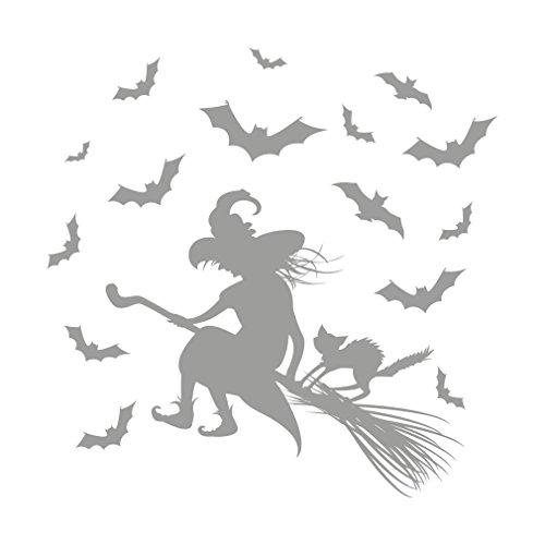 (lepni.me Wall Stickers Riding hag,Halloween Decoration)