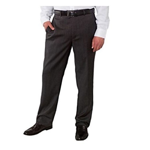 Kirkland Signature Flat Front Mens Wool Dress Pants - Charcoal (32 x 32)