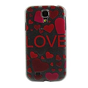 Love Pattern Transparent PC Hard Case for Samsung Galaxy S4 i9500