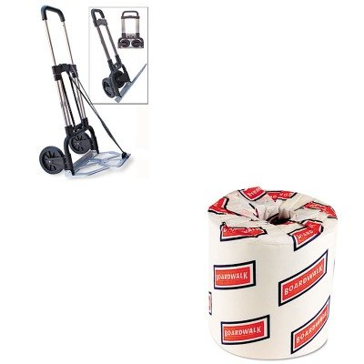 KITBWK6180STB390009CHR - Value Kit - Stebco Portable Slide-Flat Cart (STB390009CHR) and White 2-Ply Toilet Tissue, 4.5quot; x 3quot; Sheet Size (BWK6180)