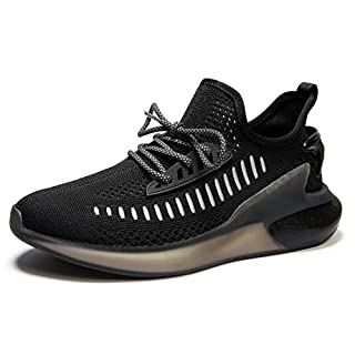 MOERDENG Men's Lightweight Fashion Sneaker Breathable Athletic Running Walking Shoes Black,Size:US 13/EU 47