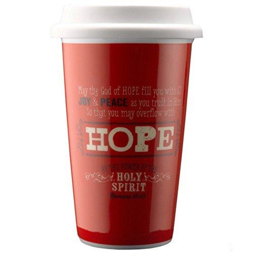 - Christian Art Gifts Retro Blessings Hope Ceramic Travel Mug - Romans 15:13