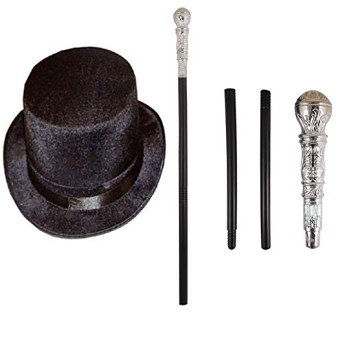 Rimi Hanger Mens Adults Factory Owner Top Hat and Cane Set Book Week Fancy Dress Costume Kit One Size