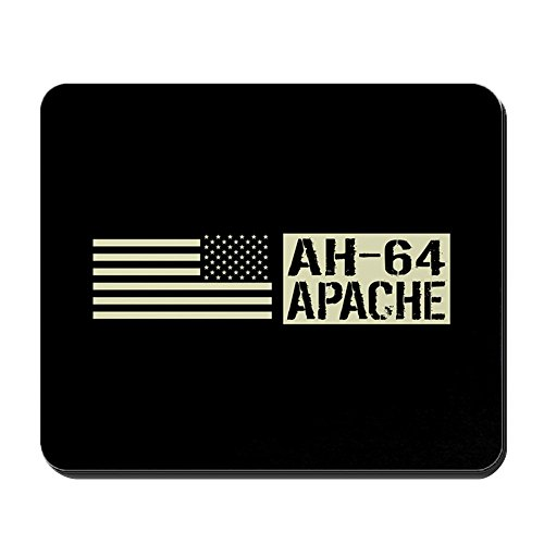 CafePress - U.S. Army: AH-64 Apache (Black Flag) - Non-Slip Rubber Mousepad, Gaming Mouse Pad