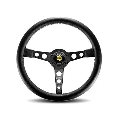Amazon.com: Momo PRO35BK2B volante de cuero negro Prototipe ...