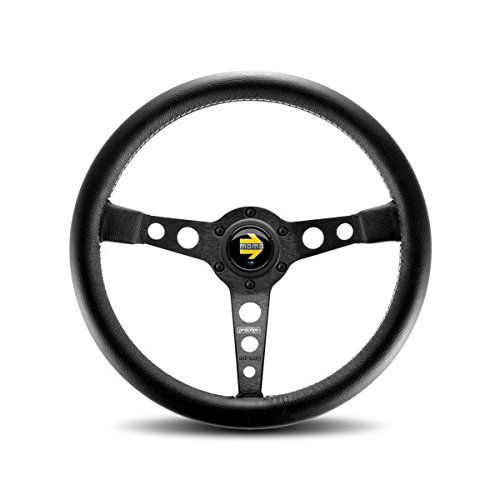 Momo Black Leather - MOMO PRO35BK2B Prototipo Black 350 mm Leather Steering Wheel