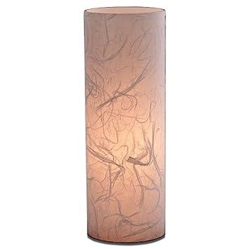 Lampe Kaze Rd Handgeschopftes Japanpapier Handmade Glas H 35 O 12