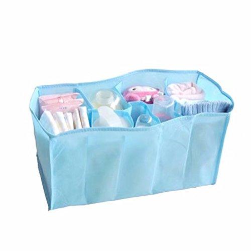 Baby Boy Girl Diaper Nappy Mother Bag Portable Handbag (Blue) - 9