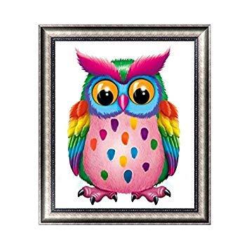 Kofun DIY Colorful Lovely Owl5D Diamond Painting Crystal Embroidery Crafts Cross Stitch Art Craft Home Room Wall Decor 30x35 cm