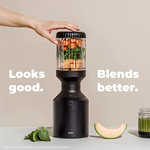 Beast Blender   Blend Smoothies and Shakes, Kitchen Countertop Design, 1000W (Carbon Black)