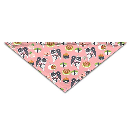 OLOSARO Dog Bandana Husky and Sushi Triangle Bibs Scarf Accessories for Dogs Cats Pets Animals ()