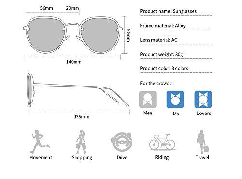 Sol al la Estilo Gafas de Hombre Aprigy Aire Noche piloto de conducción para Libre de Gafas de de Nocturna Té Sol Gafas Mujeres té visión Las de la gqqxwAEOP