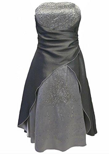donna 2030 vers stanotte Colori A 34 vestimento corto Argento tine 54 in Chris JuJu raso amp; taglia qHzwIPB