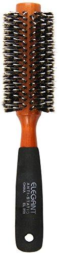 Elegant Brushes Round Porcupine Brush, Brown, 2.25 Inch