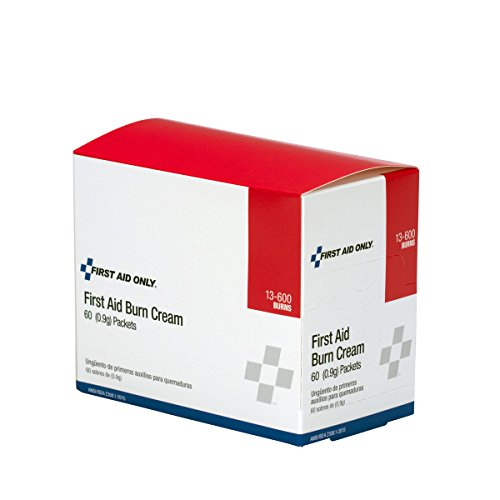 Pac-Kit by First Aid Only 13-600 First Aid/Burn Cream, 0.9 gm Packet (Box of 60) - Lidocaine Burn Relief
