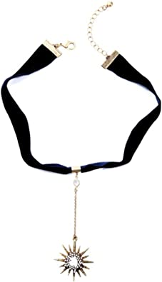 Vintage Star Choker Chain Leather Pendant Layer for Women Jewelry AILUOR Multilayer Necklace